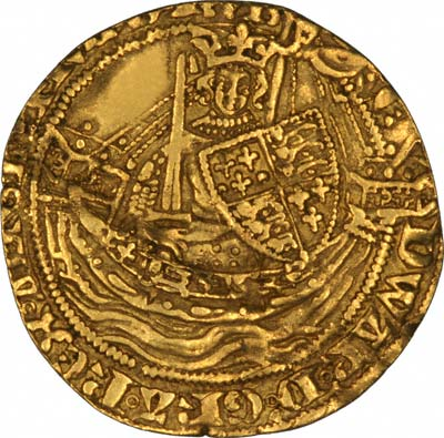 Obverse of a 4th Coinage Half Noble of Edward III