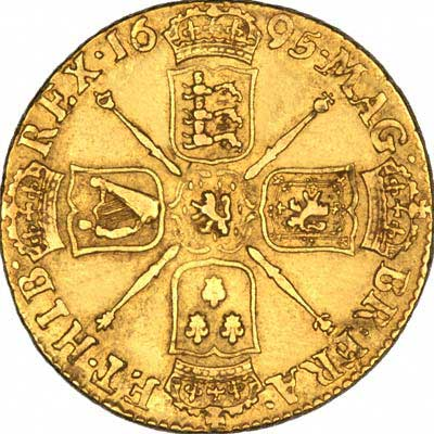 Reverse of 169*5 William III Guinea