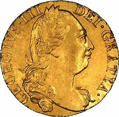 Obverse of 1777 George III Guinea