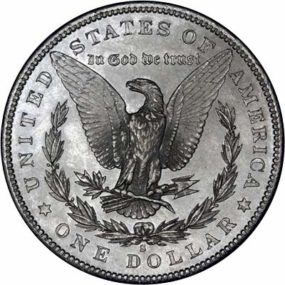 Reverse of 1881 - S American Morgan Type Silver Dollar