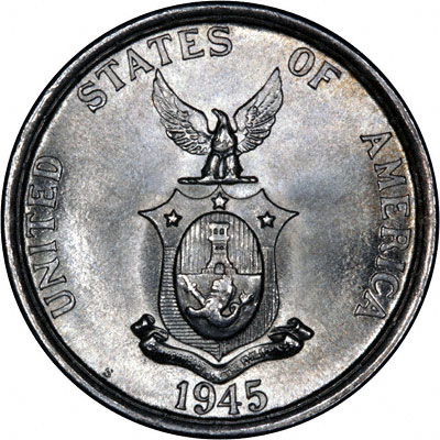 Reverse of 1945 Philippines 50 Cents