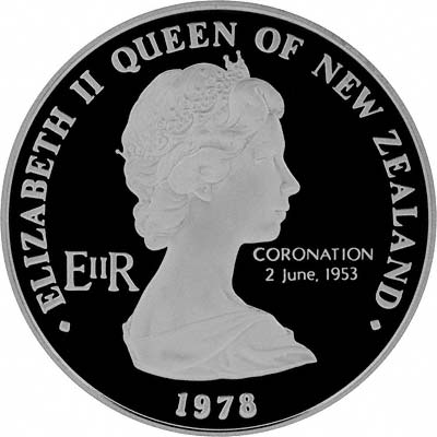 Obverse of New Zealand 2000 Proof Silver Ten Dollars