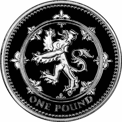 Scottish Lion Design on Reverse of 1994 Pound Coin