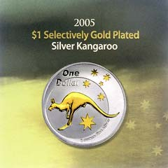2005 Selectively Gold Plated Silver Kangaroo Packaging