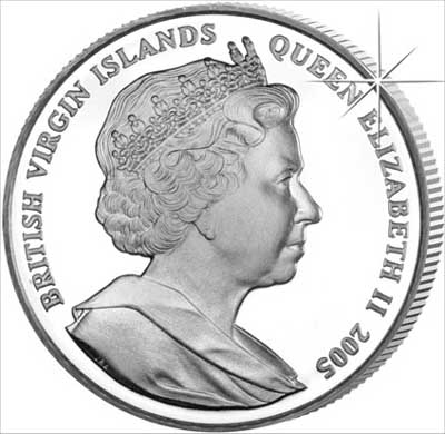 Obverse of 2005 British Virgin Islands Crown
