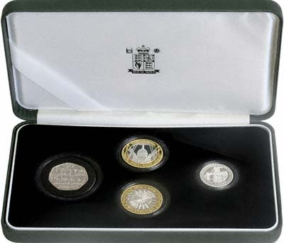 2005 Silver Proof Piedfort Four Coin Set in Presentation Box