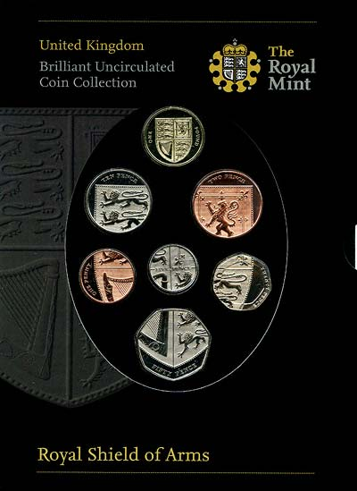 2008 Uk Royal Shield Of Arms Coin Sets