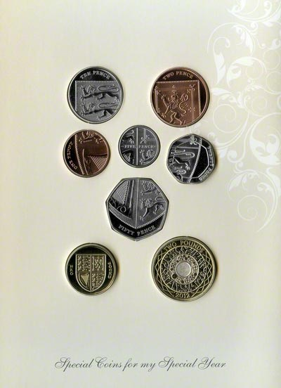 Baby Gift Set Coins : British baby coin sets